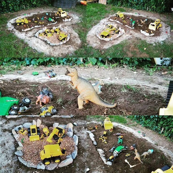 Backyard Race Car Track & …Dinosaur Garden? 🚚🦕 Outdoor