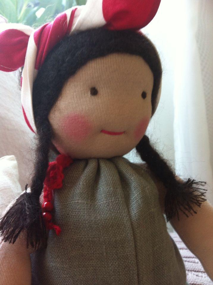meine erste Puppe... mit Liebe handgemacht...
