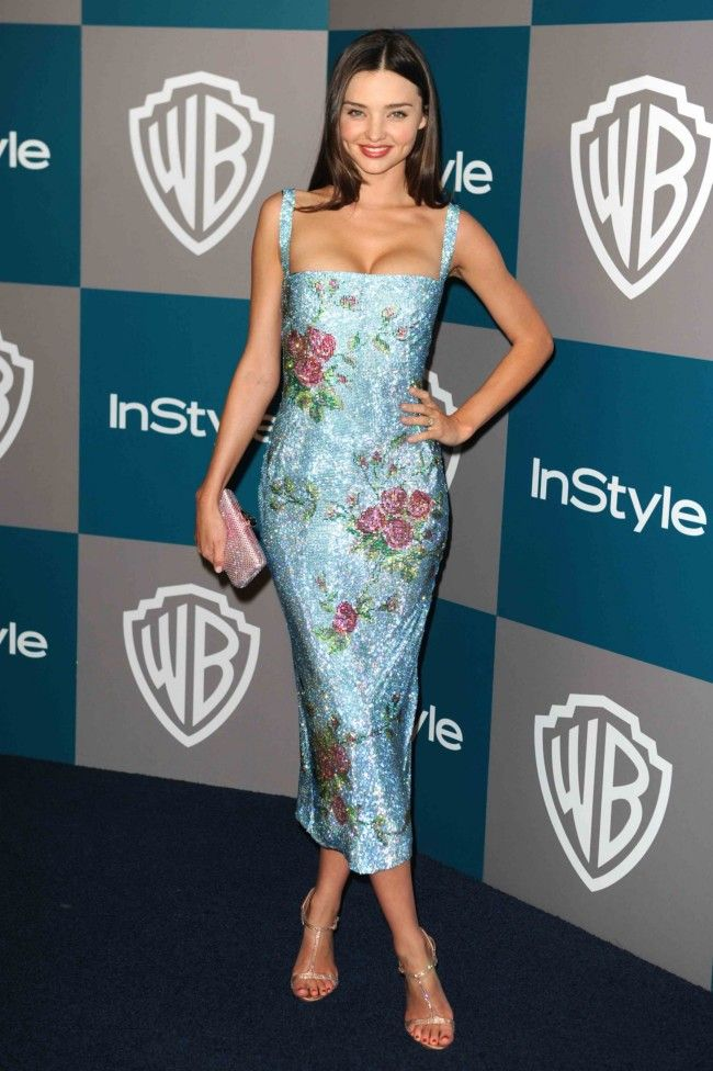 Miranda Kerr's Style File:  See her style evolution - Stunning Dress by Dolce & Gabbana