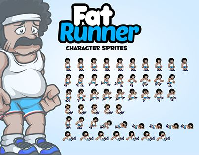"Check out new work on my @Behance portfolio: ""Fat Runner Character Sprites"" http://be.net/gallery/44608277/Fat-Runner-Character-Sprites"
