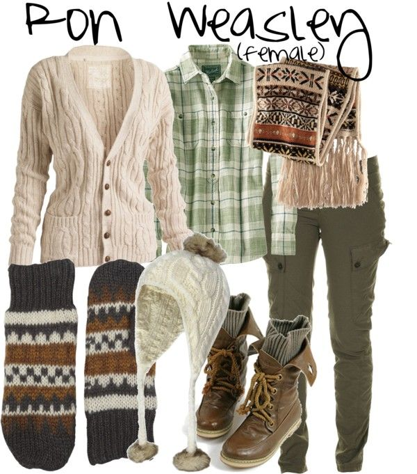 """Ron Weasley (female)"" by accio-disney on Polyvore"