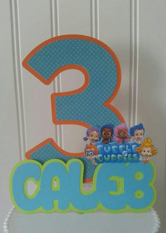 Bubble guppies cake topper  Check out this item in my Etsy shop https://www.etsy.com/listing/292385675/bubble-guppies-cake-topper-bubble