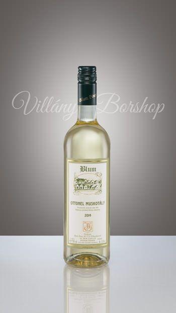 Blum Ottonel Muskotály 2014  Édes fehér bor.
