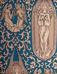 Fabric 02-32 Angels Blue Close Up