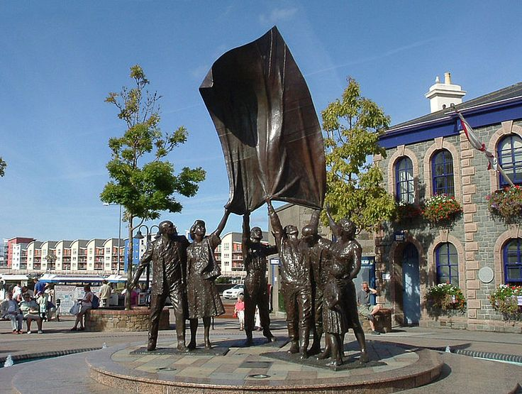 Statue in Liberation Square, St. Helier, Jersey