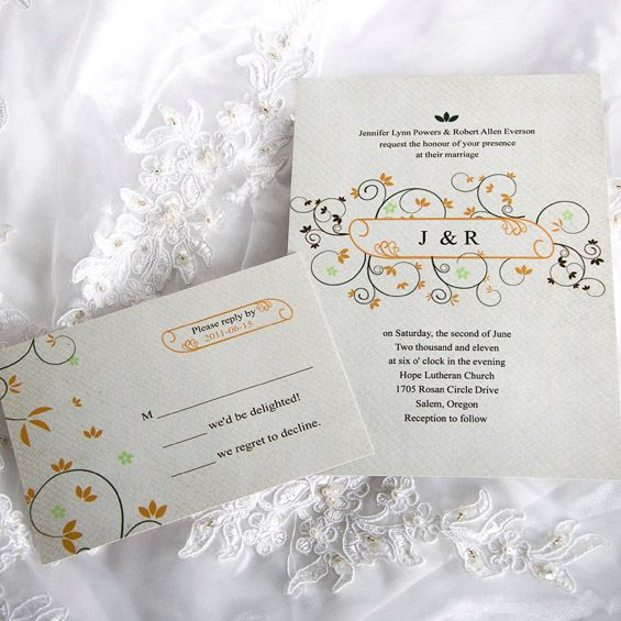 Invitationstyles offers the cheap monogram wedding invitations