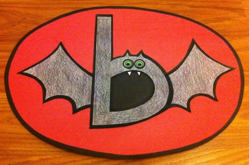 Letter B Craft. Bat.
