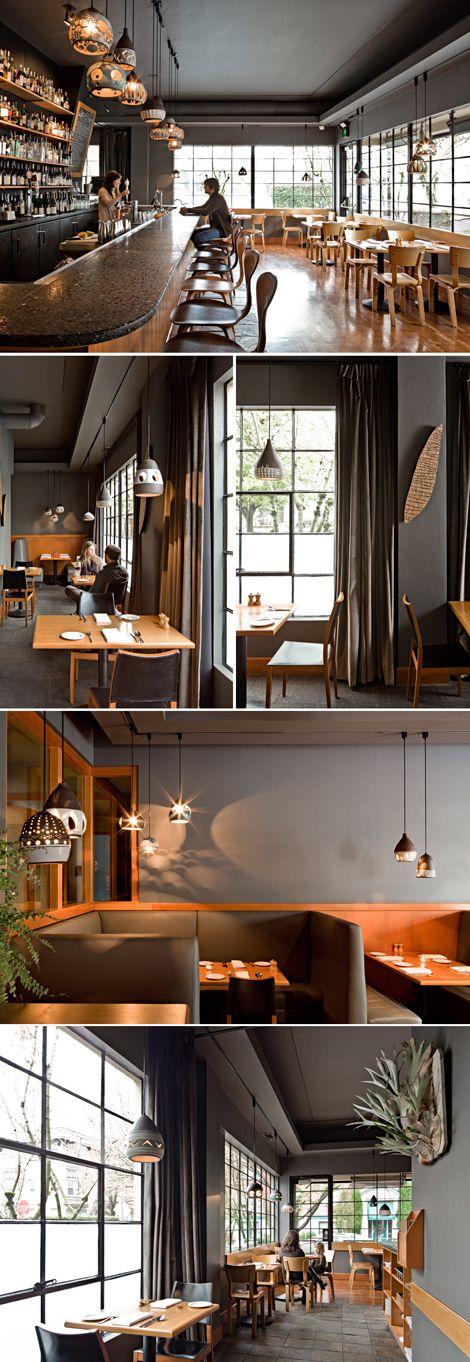 Lovely interior restaurant cafe