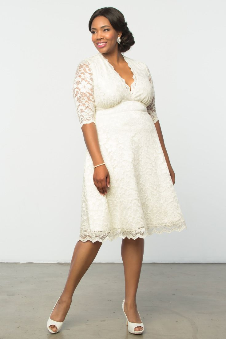 A simple ceremony and a classic bride deserves a gorgeous dress like our Wedding Belle Dress. Browse our entire made in the USA collection online at www.kiyonna.com.