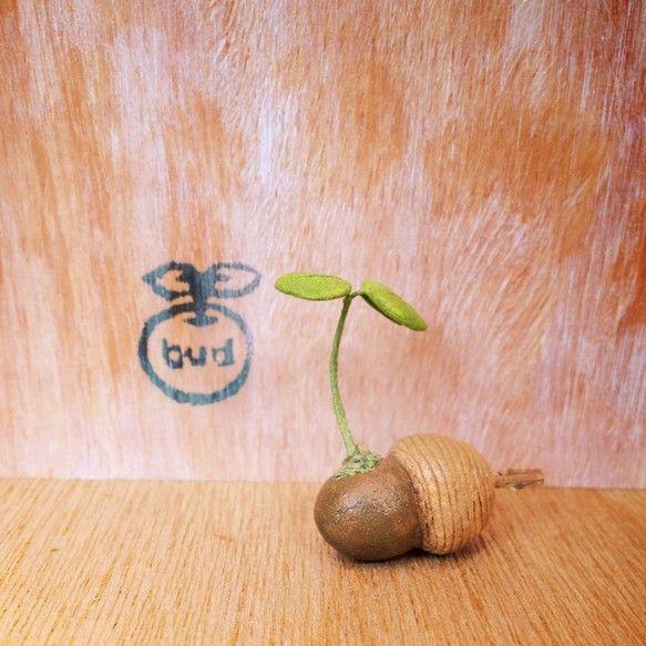 粘土でつくった鉢植えです。 水あげ不要です。 いろんな場所に飾ってください。どんぐりから芽が出ています。帽子の先には木の枝を挿してみました。※ころんと丸くつく... ハンドメイド、手作り、手仕事品の通販・販売・購入ならCreema。