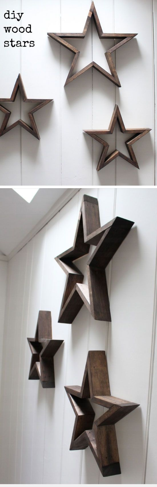 Wooden Stars | DIY Pottery Barn Decor Knock Offs | DIY Pottery Barn Living Room Ideas on a Budget