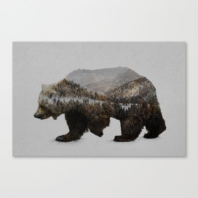 The+Kodiak+Brown+Bear+Canvas+Print+by+Davies+Babies+-+$85.00
