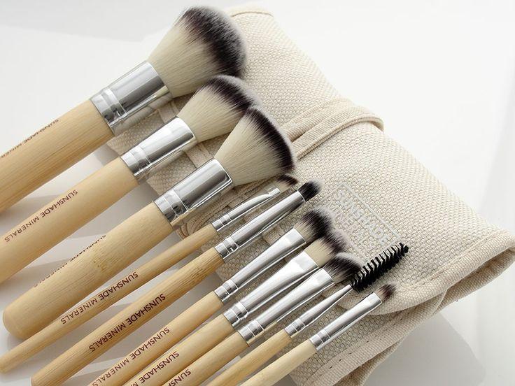 Pędzle do makijażu- zestaw 10 sztuk Sunshade Minerals - [Lancrone] -