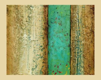 Large Abstract acrylic painting Fine Art-texture- Near the River 1 Size.36x60