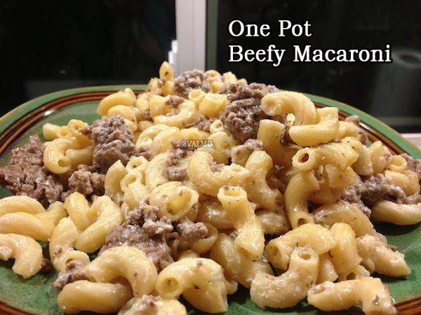 Like it? Share it!1975181020 This is a super simple one pot meal. Nothing fancy, but it's tasty. You can add and subtract seasonings to suit your taste. INGREDIENTS 1 lb ground beef 1 lb elbow macaroni 5 cups water 5 beef boullion cubes 16oz onion dip salt and pepper to taste INSTRUCTIONS Brown the ground …