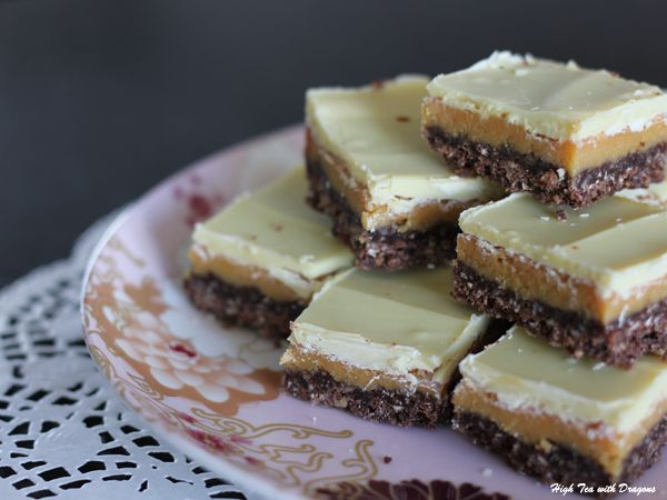 White Chocolate & Caramel Slice