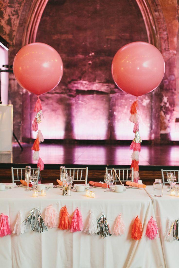 Photography: Mango Studios - mangostudios.com  Read More: http://www.stylemepretty.com/2015/05/26/modern-pink-wedding-at-berkeley-church/