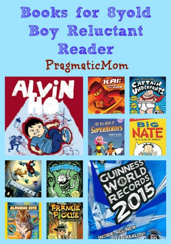 Books for 8yold Boy Reluctant Reader :: PragmaticMom