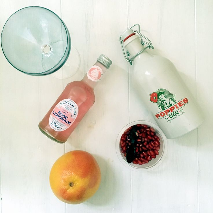 Poppy's rose Gin cocktail