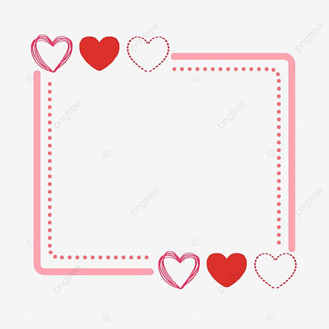 Romantic Red Hearts Border Heart Border Clipart Valentine S Day Love Png Transparent Clipart Image And Psd File For Free Download Heart Border Love Png Heart Wallpaper