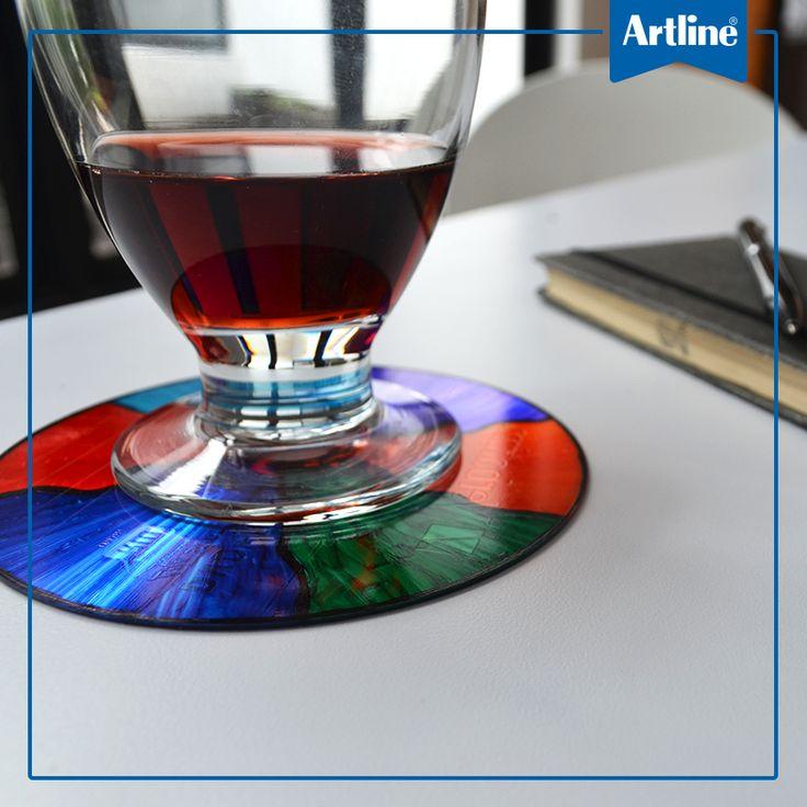 Desempolva tus cds, ponles algo de color con EK 041T y estrena portavasos.