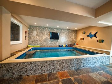 Sumi-e Glass Pool Surrond - swimming pools and spas - los angeles - Stone & Pewter Accents