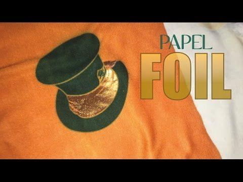 (29) Papel Foil SERIGRAFIA casera paso a paso — TERMOGEL SERIGRAFIA en playeras — Papel Foil textil - YouTube