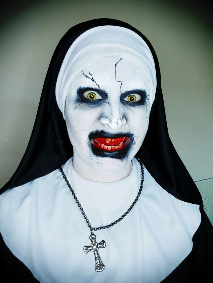 Makeup Valak   A freira, Maquiagem de hallowen, Ideias de ...