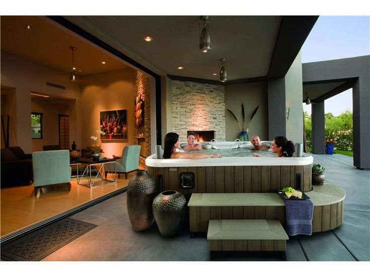 7 best backyard paradise images on pinterest backyard for Spas that come to your house