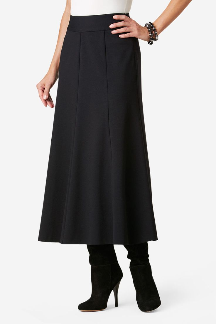 Ponte Perfect Boot Skirt - Women's Skirts | Coldwater Creek - Woohooooo! Coldwater Creek is back!