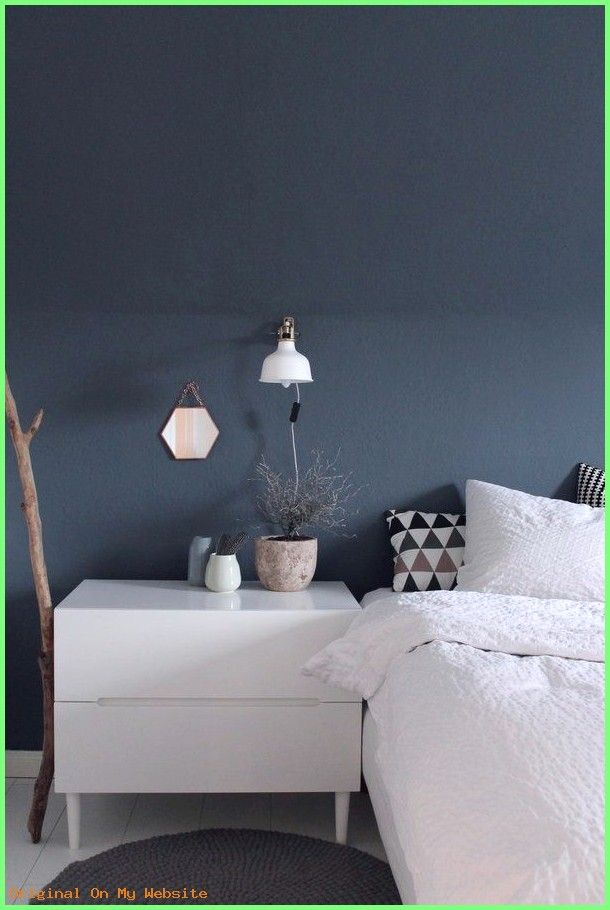 schlafzimmer wandfarbe ideen  schlafzimmer blaugraue