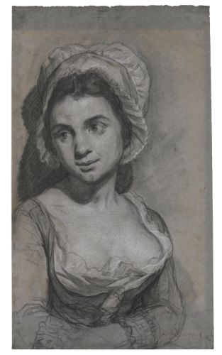 Joseph Ducreux PORTRAIT OF A YOUNG WOMAN