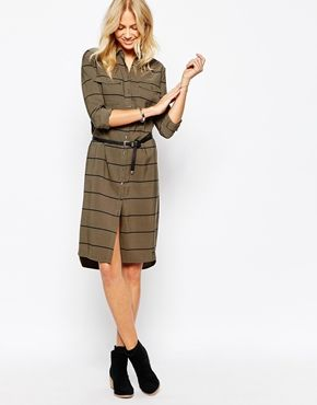 clutch bag Pepe Jeans Shirt Dress With Stripe