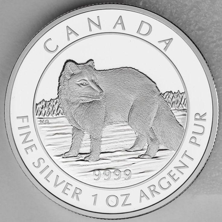 Canada 2014 $5 Arctic Fox 1 oz. 99.99% Pure Silver Proof Numismatic Coin