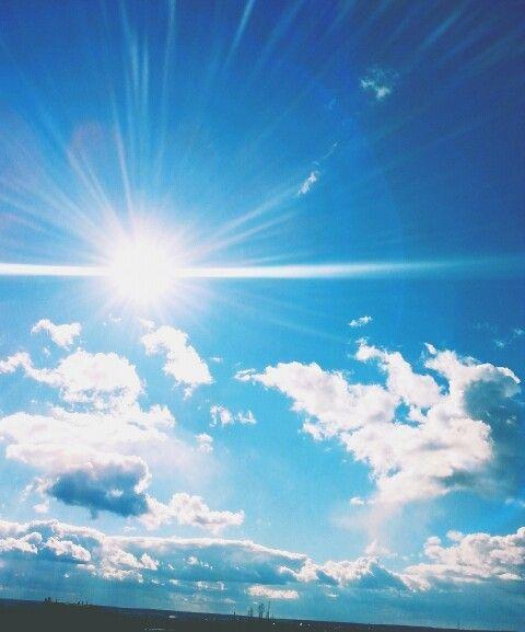 Beutiful sky  #sky#sun#skyandsun#небо#солнце#облака