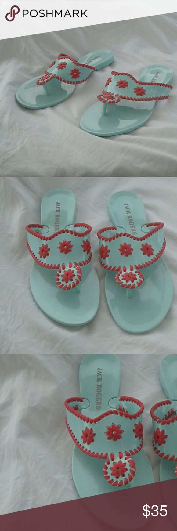 Jack Rodgers plastic sandals Sandals are in good condition see pictures for more details Jack Rogers Shoes Sandals
