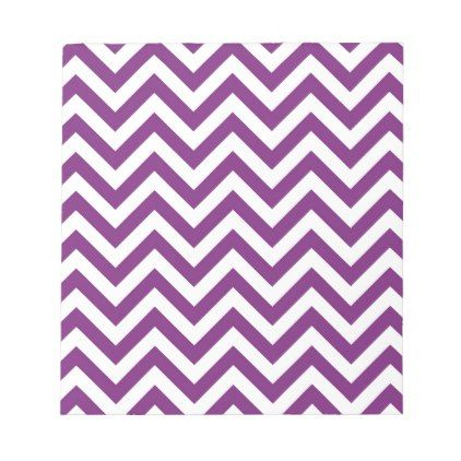 Purple Chevron Pattern Notepad - stripes gifts cyo unique style