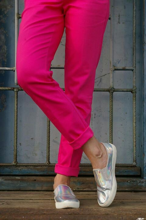 Iridescent slip-on shoes #elikshoe