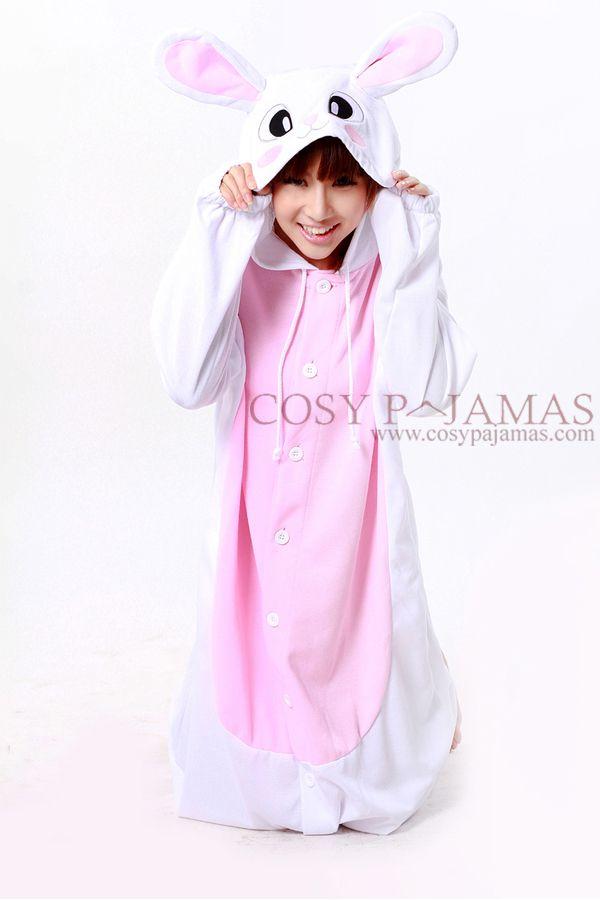 Animal Costumes Rabbit Animal Adult & Kids Onesies Kigurumi-Polyester Mesh