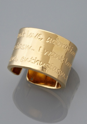MERCEDES SALAZAR Palabras Adjustable Ring