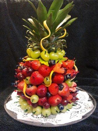 Pineapple Fruit Tower Ladies Night Out Hawaiian Luau