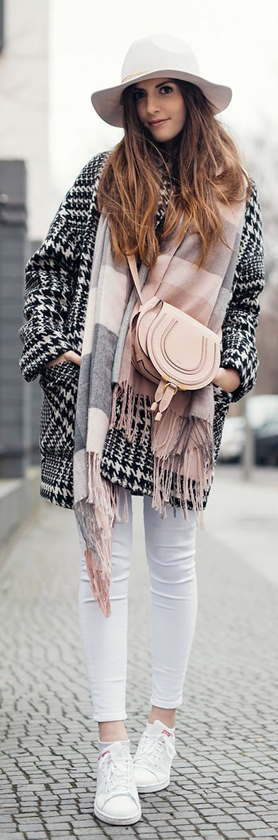 Black, White And Rose Winter Outfit                                                                             Source