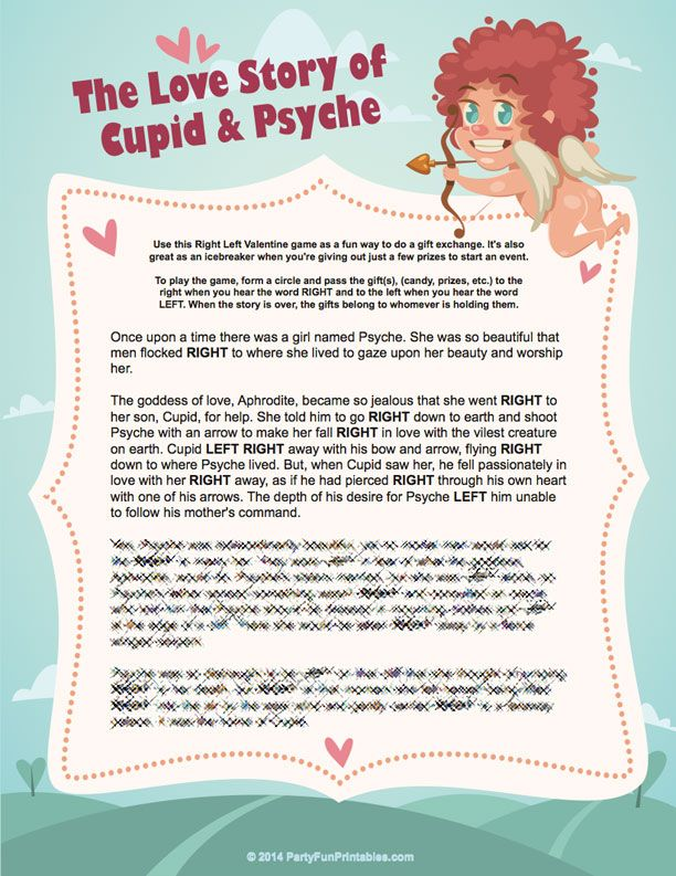 a valentine left right game the love story of cupid and psyche bridal shower pinterest. Black Bedroom Furniture Sets. Home Design Ideas