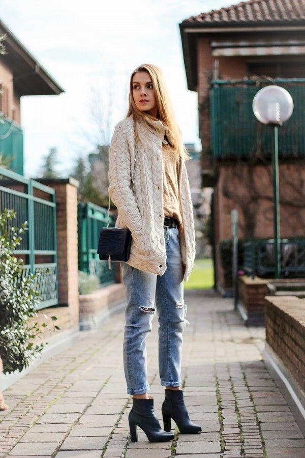 С чем носить «джинсы бойфренда»: 11 актуальных примеров 10