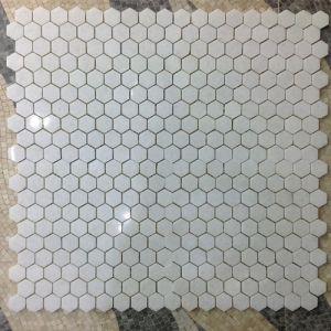 heksagon white tiles