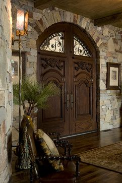 What an entrance! Entry Photos Old World Tuscan Mediterranean Design, Pictures, Remodel, Decor and Ideas - page 25