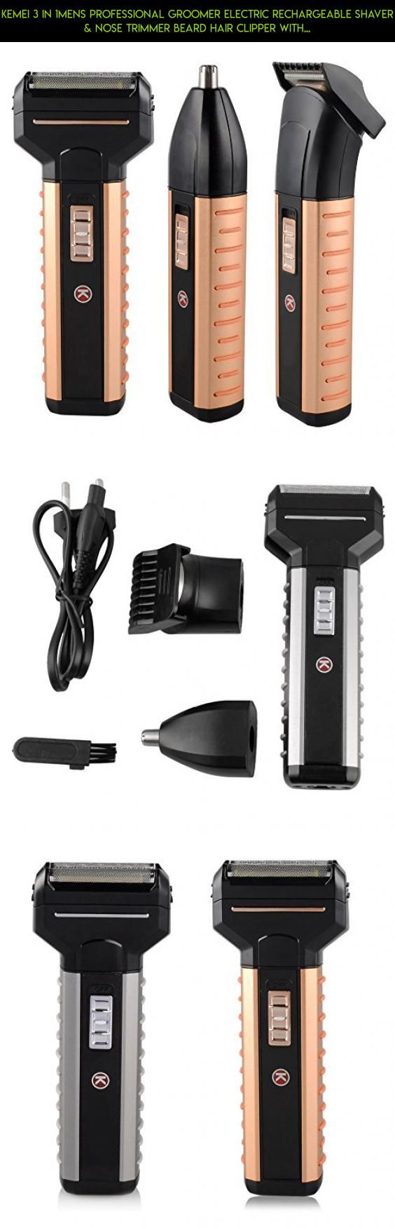 Kemei 3 in 1mens Professional Groomer Electric Rechargeable Shaver & Nose Trimmer Beard Hair Clipper with Precision Blades #camera #tech #shopping #racing #men #trimmers #for #drone #plans #fpv #gadgets #technology #products #parts #beard #kit