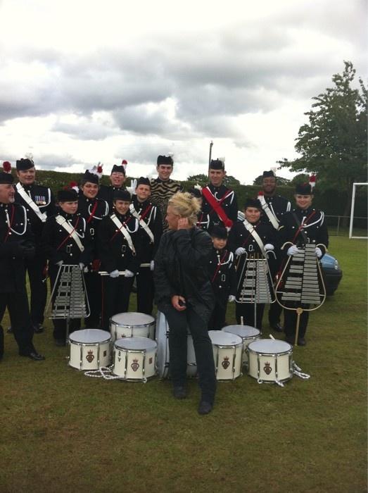 July 16, 2011: Codicote Royal British Legion Youth Band and I get acquainted at Codicote Village Day : ) yfrog.com/kik4nchj