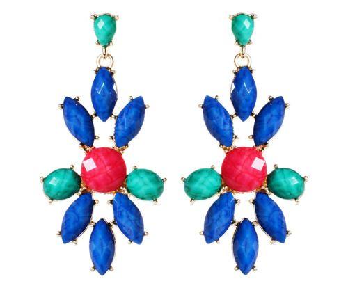 #Coppia di orecchini in ottone e resina east colore Blu turchese rosso  ad Euro 19.00 in #Amrita singh jewelryaccessories #Misc apparelaccessories