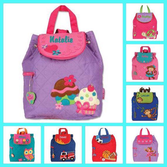 Kids backpack , toddler back back , toy bag , preschool backpack , stephen joseph backpack , personalized kids bag , CUPCAKE